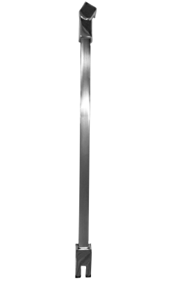Vertical Shower Support Bar In Square Profile