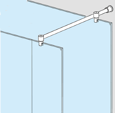 Adjustable Glass To Glass Shower Screen Support Bar