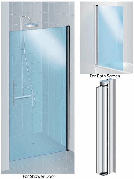 Aluminium Pivot Hinge For 6mm Glass Shower Door No Drilling Kerolhardware Co Uk