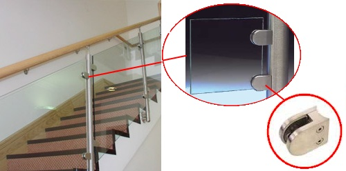 Glass Clamps Stainless Steel Clamps Glass Balustrades
