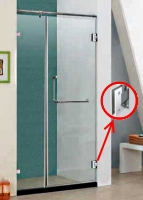 Wall Mounted Shower Door Hinges Wall To Glass Door
