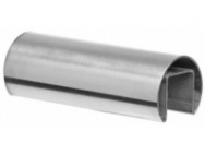 Stainless Steel Slotted Cap Rail - Round