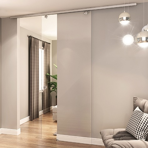 Aluminium Sliding Door System - Ceiling Mount
