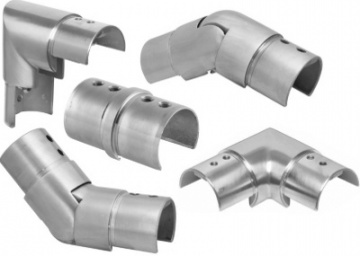 Connector for Slotted Tubing Handrail