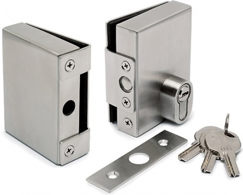 Door Lock & Keep for 10mm Glass Door without Glass Fabrication