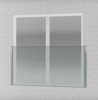 Juliet Balcony Profiles (H=1100mm) for Glass 12 - 21.52mm