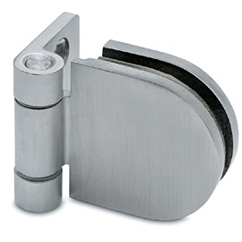 D-Shaped Stainless Steel Door Hinge - Wall Mounted