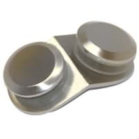 135° Glass to Glass Clip with Round Button