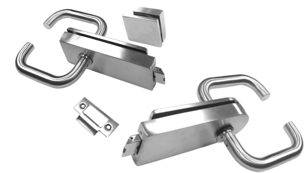 Glass Door Latch With Return To Door Lever Handles Kerolhardware