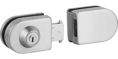 Retrofit Glass Door Lock with Strike Box - No Notching