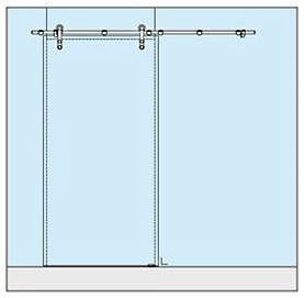 Wall Mounted Sliding Door Fittings