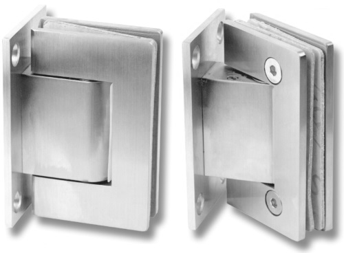 Wall Mounted Soft Closing Glass Door Hinges Pack Of 2