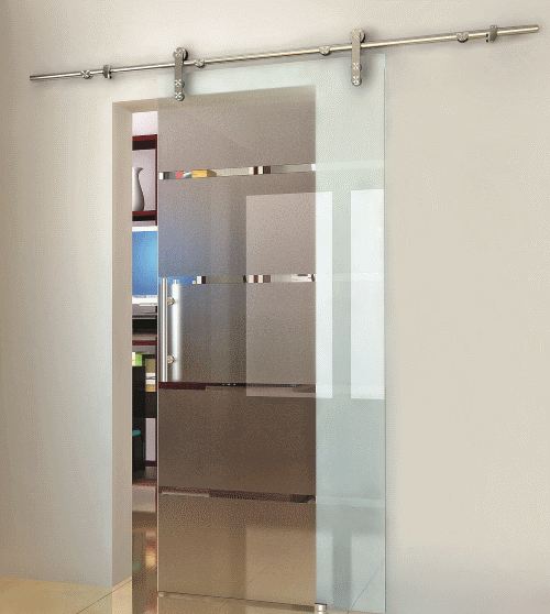 Stainless Steel Sliding Door System for Glass Door
