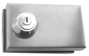 Portable Glass Door Lock for 10mm Double Door - No Cut-out