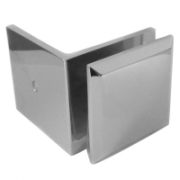 Square Wall to Glass Clip with Offset Fixing Plate