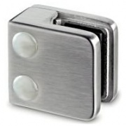Small Square Glass Clamp with Flat Base