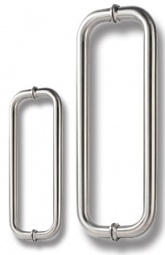 Stainless Steel D-Shaped Handles for Glass Door