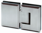 Stainless Steel Glass Door Hinge (180° Glass-to-Glass)