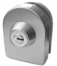 Glass Door Lock with Strike Plate - No Drilling