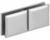 In-line Square Glass Clip with Bevelled Edge