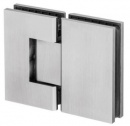 180° Glass-to-Glass Shower Door Hinge - Square Profile