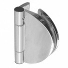Wall-mounted Half Round Frameless Shower Door Hinge