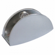 Curved Glass Bracket in Chrome Polished Finish