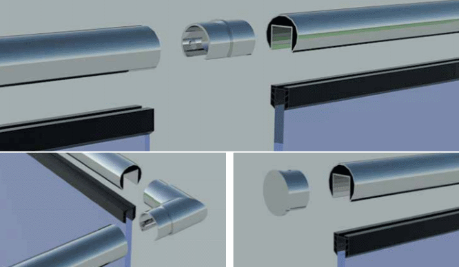 Stainless Steel Slotted Tube Handrail and Accessories