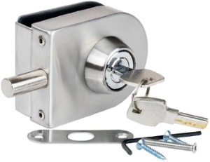 *Please Note this lock is for interior use only and should not be used in coastal or offshore areas due to high salinity  sc 1 st  Kerol Hardware & Clip-on Glass Door Lock without Drilling - KerolHardware.co.uk