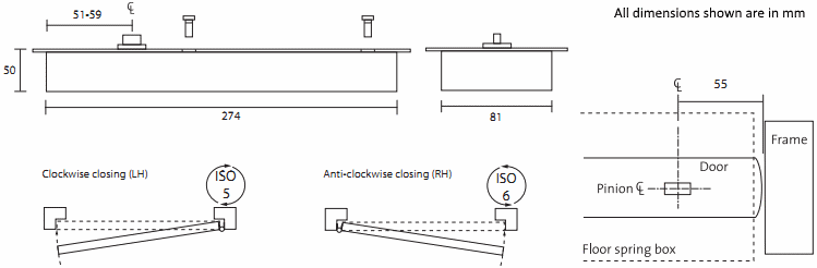 Slimline Floor Spring Kerolhardware Co Uk