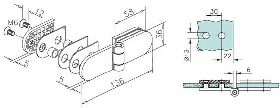 180 176 Glass To Glass Bi Folding Door Hinge Kerolhardware