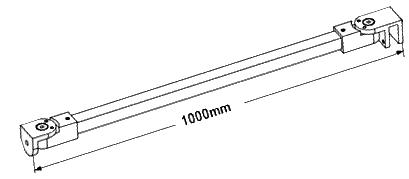Square Wall To Glass Bracing Bar With Angle Adjustable
