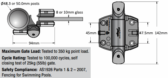 Adjustable Hinges Manufacturers Mail: Adjustable Glass Gate Hinge For Round Post