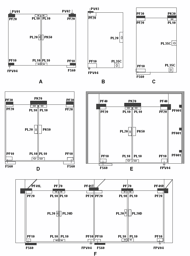 Typical Application for Glass Door with Patch Fittings