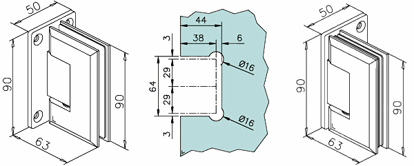 Stainless steel glass door hinge wall mounted kerolhardware please note all descriptions specifications diagrams illustrations and dimensions given are approximate and intended for general guidance purposes only planetlyrics Images